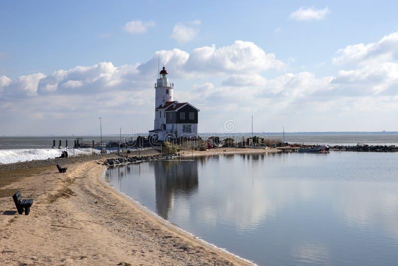 Faro di Marken fotografie stock