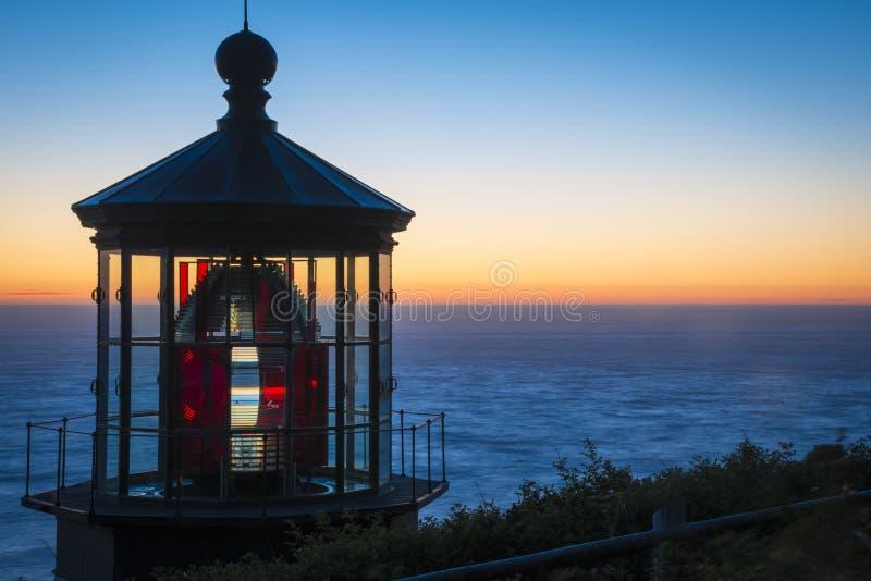 Faro di Meares del capo, costa dell'Oregon immagini stock libere da diritti