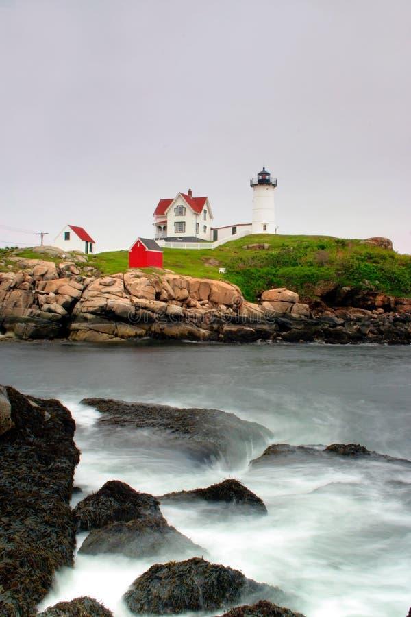Faro di Neddick del capo, Maine fotografie stock libere da diritti