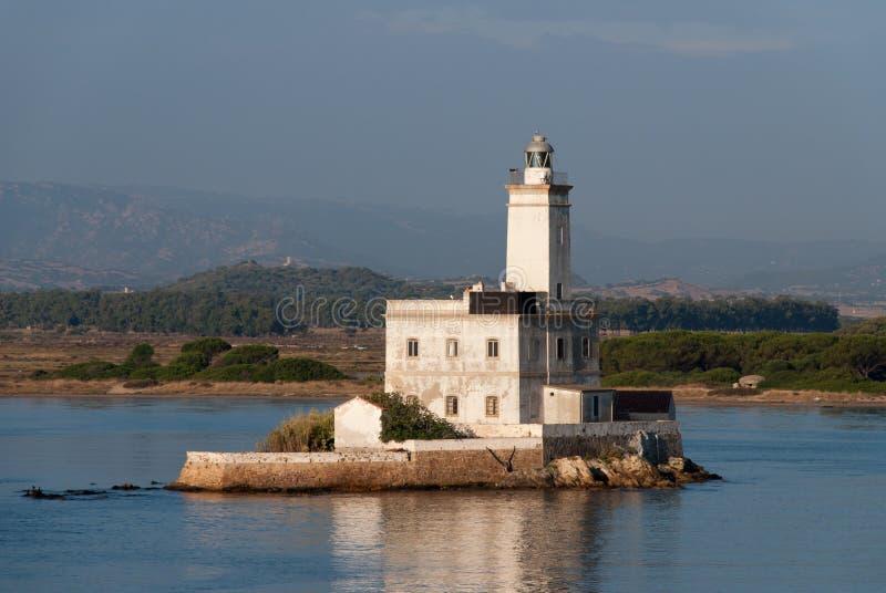 Faro di Olbia fotografie stock