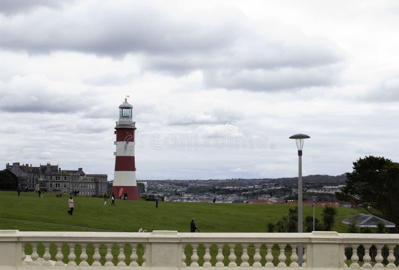 Faro di Plymouth, torre di Smeatons immagine stock