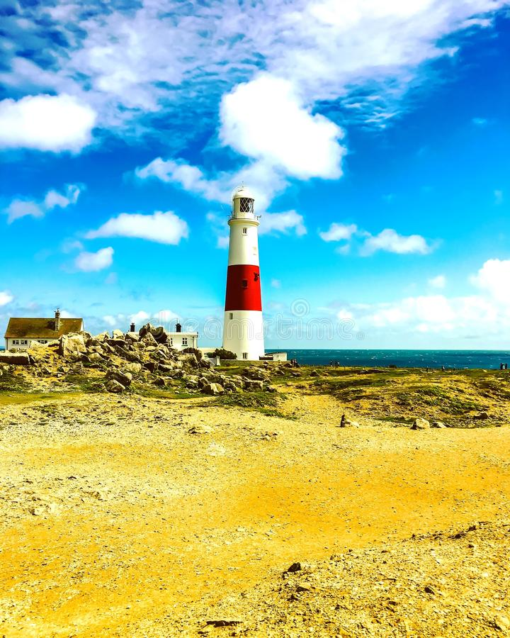 Faro di Portland Bill immagine stock