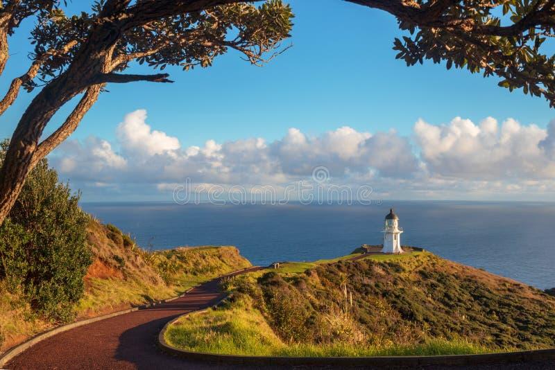Faro di Reinga del capo, Nuova Zelanda immagini stock libere da diritti