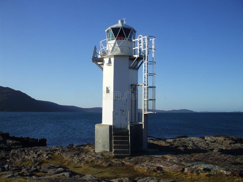 Faro di Rhue, vicino a Ullapool immagine stock libera da diritti