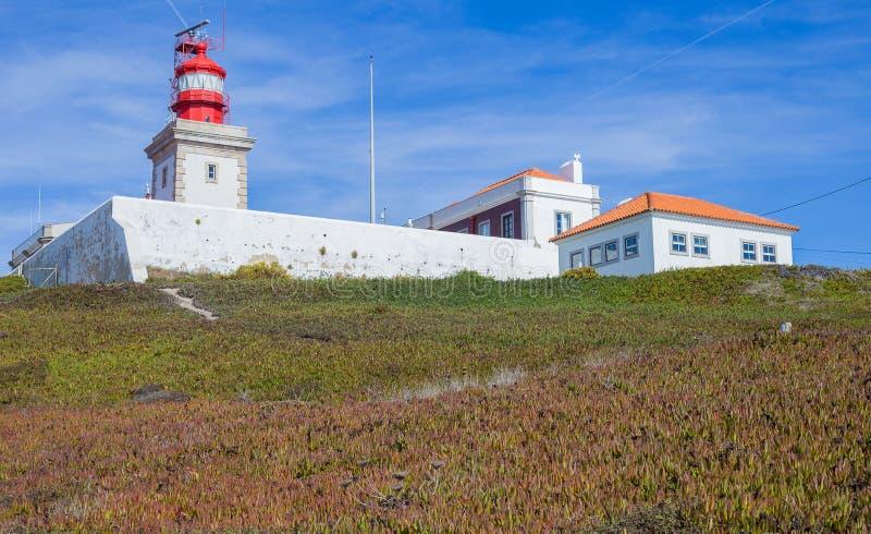Faro di roca di Cabo da fotografia stock
