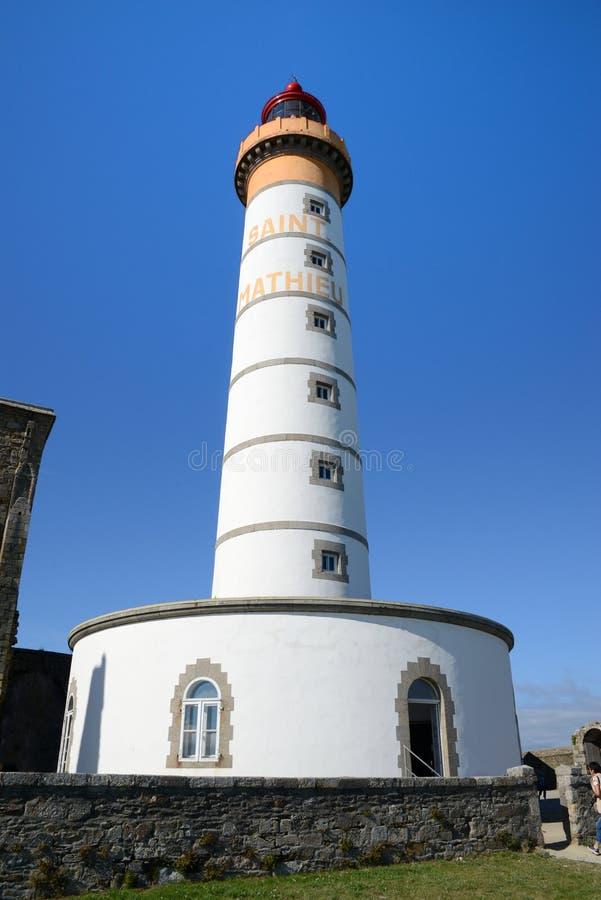 Faro di San-Mathieu in Bretagna fotografia stock