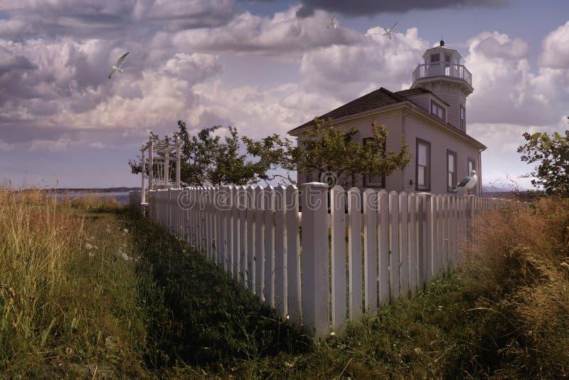 Faro di Townsend della porta immagine stock libera da diritti