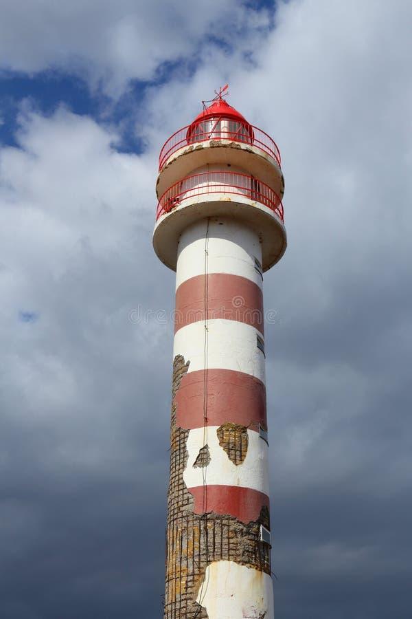 Faro dilapidado fotografía de archivo