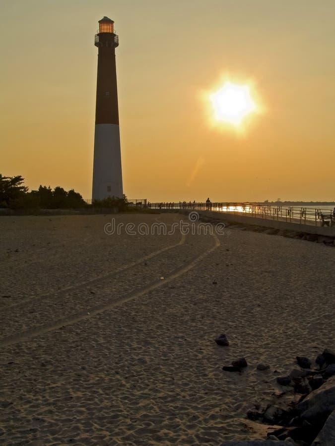 Faro e sabbia immagini stock libere da diritti