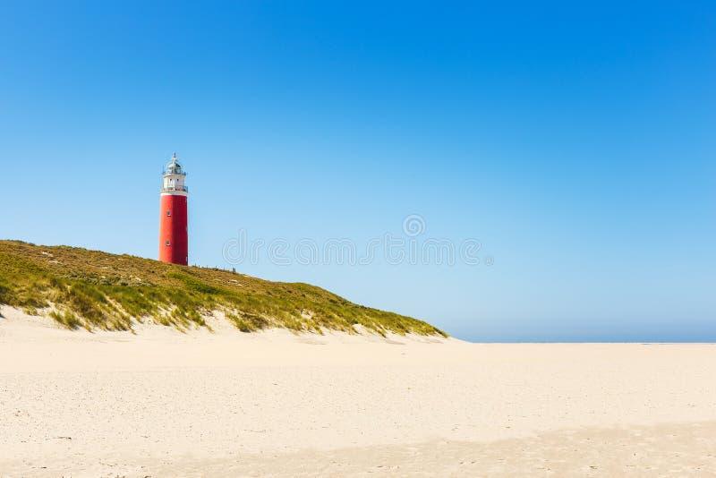 Faro Eierland en la isla holandesa Texel fotografía de archivo