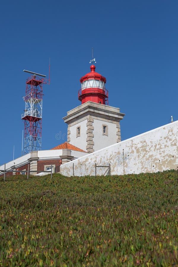 Faro en Cabo DA Roca, Sintra, Portugal fotografía de archivo libre de regalías