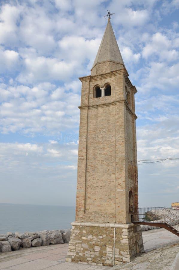 Faro en Caorle, Italia fotografía de archivo libre de regalías