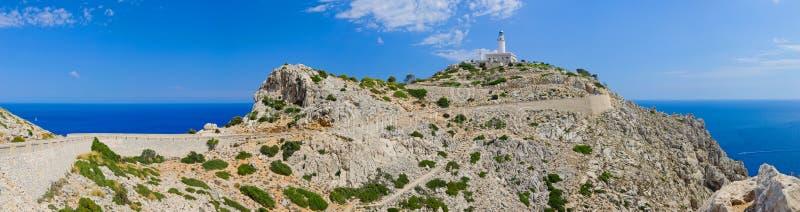 Faro en el cabo Formentor. imagenes de archivo