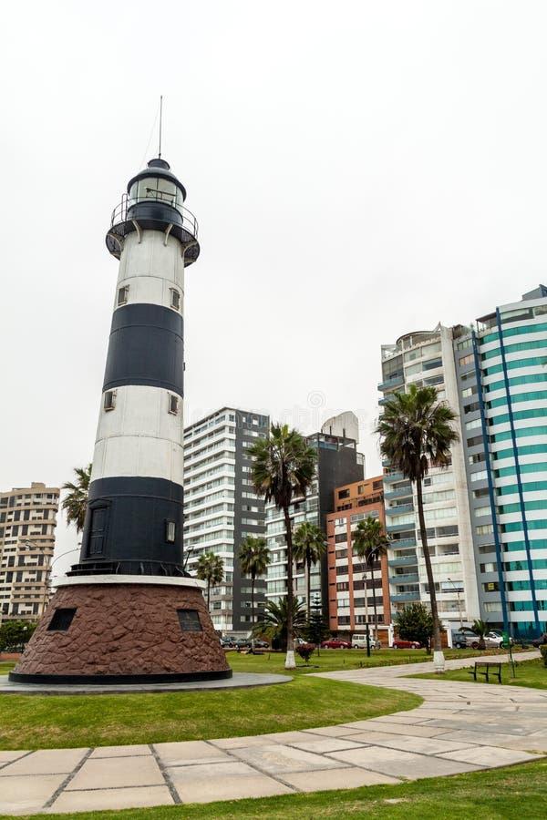 Faro en el distrito de Miraflores de Lima, el PE fotos de archivo