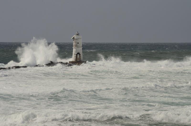 Faro en el viento fotografía de archivo