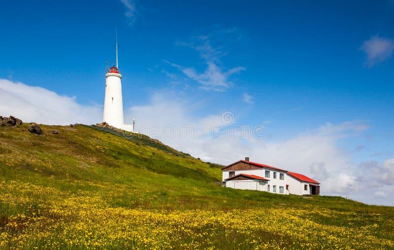 Faro en Islandia imágenes de archivo libres de regalías