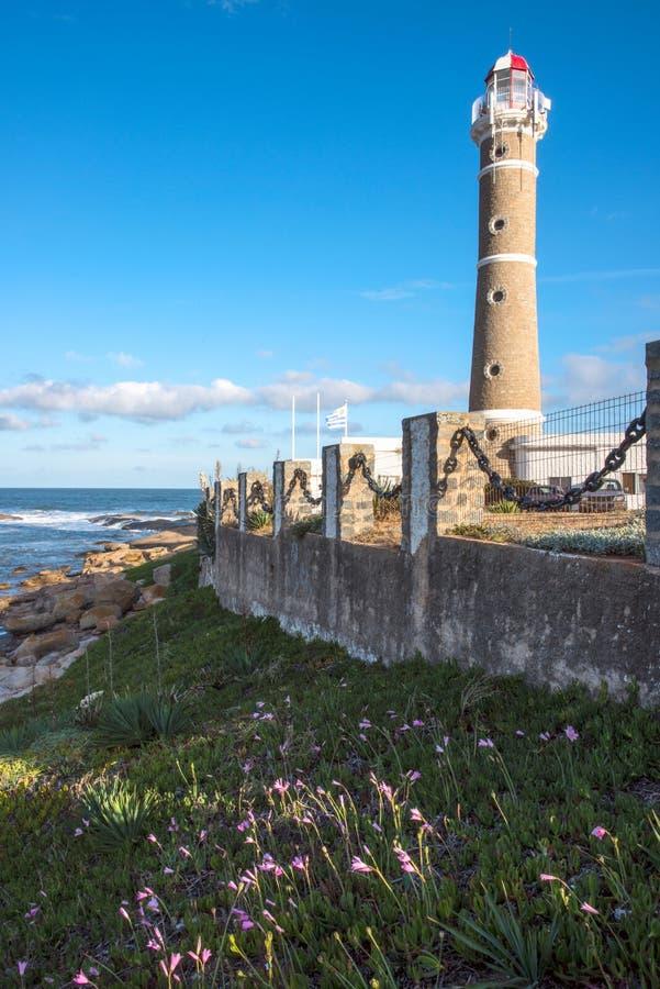 Faro en Jose Ignacio, Uruguay imagen de archivo