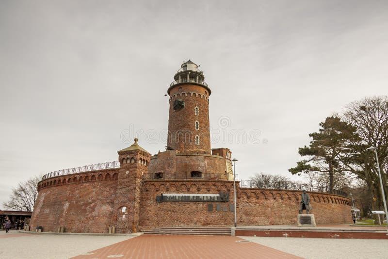 Faro en Kolobrzeg - Polonia. fotografía de archivo