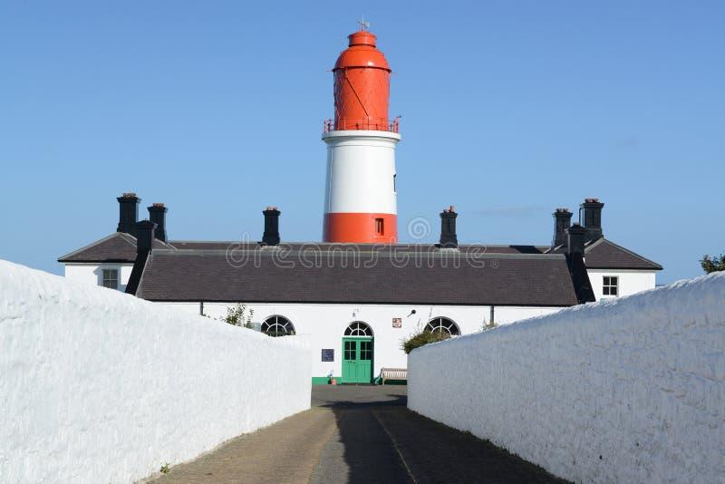 Faro en la costa de nordeste fotos de archivo