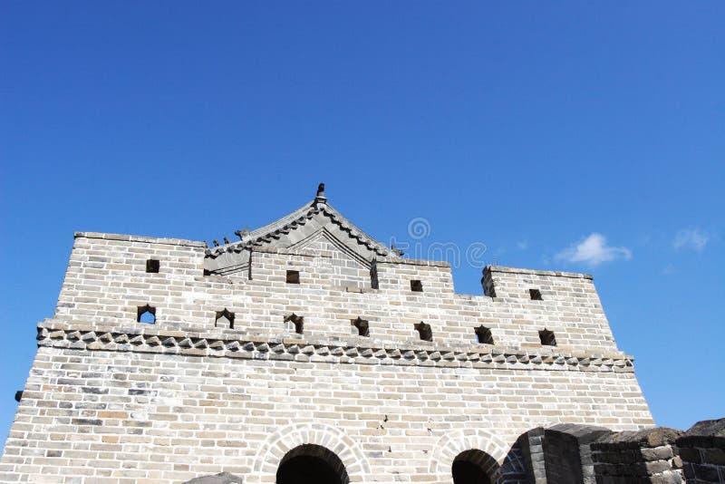 Faro en la Gran Muralla de Badaling imagen de archivo libre de regalías