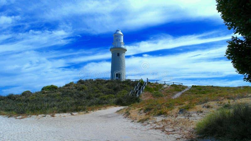 Faro en la isla de Rottnest fotos de archivo libres de regalías