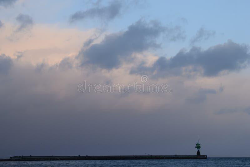 Faro en la 'promenade' fotografía de archivo