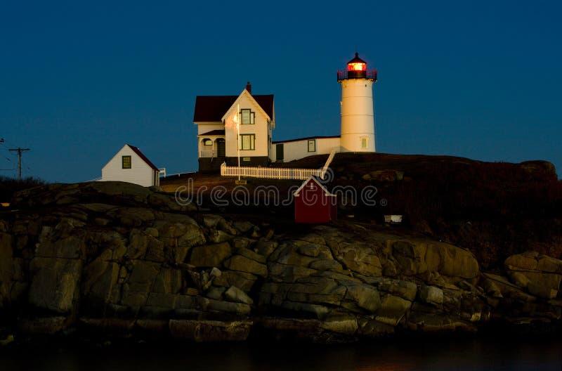 Faro en Maine imagenes de archivo