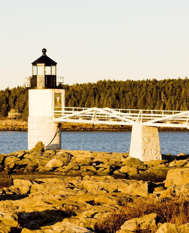 Faro en Maine fotografía de archivo