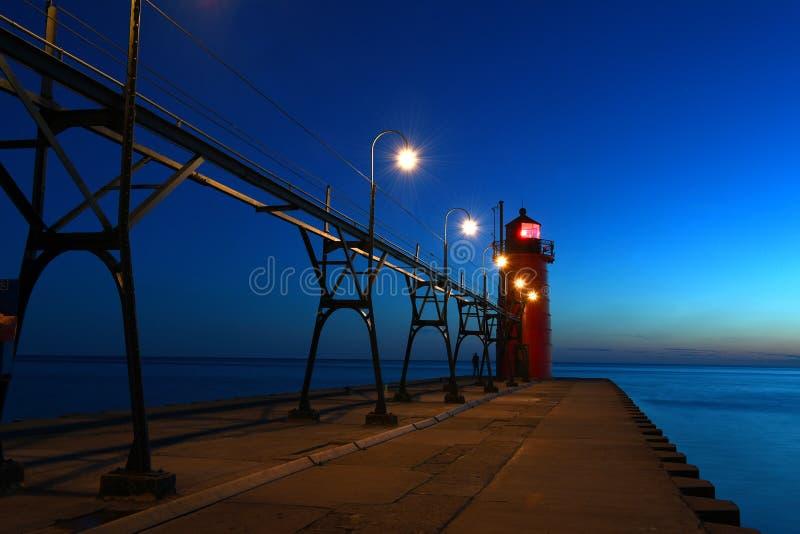 Faro en Michigan fotografía de archivo