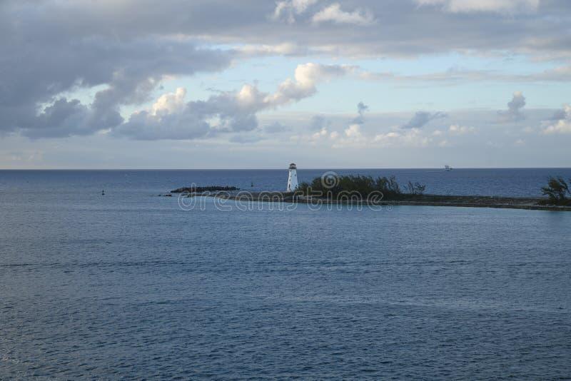 Faro en Nasau imagenes de archivo