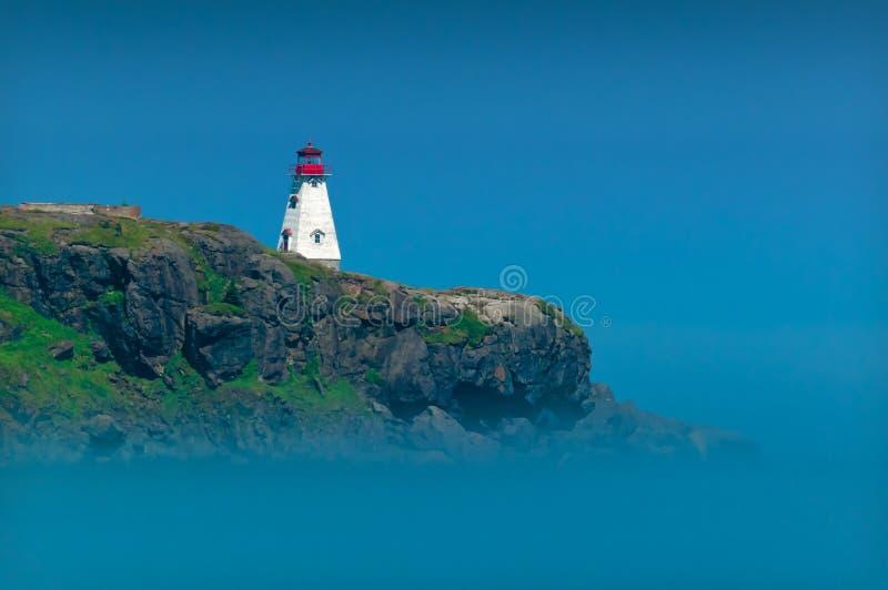 Faro en Nova Scotia foto de archivo