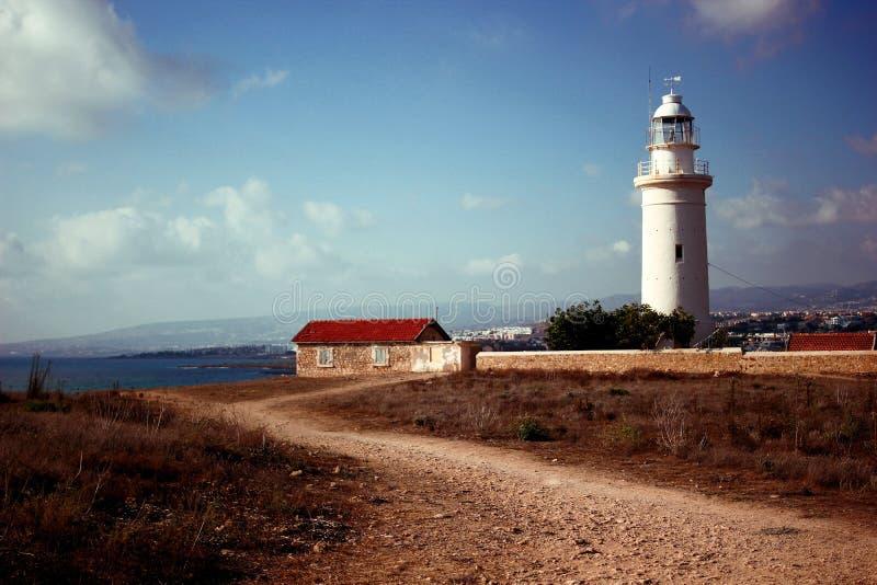 Faro en Phapos fotografía de archivo