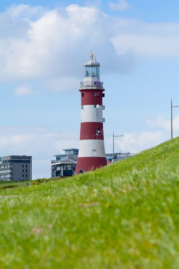 Faro en Plymouth, Devon, Inglaterra de la torre de Smeatons fotografía de archivo libre de regalías