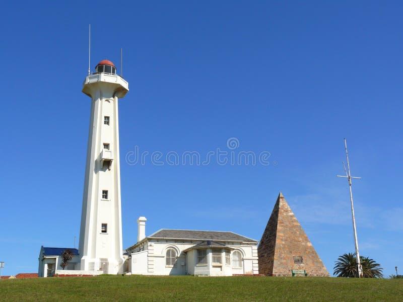 Faro en Port Elizabeth foto de archivo