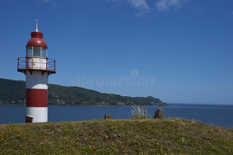 Faro en Valdivia, Chile meridional fotografía de archivo