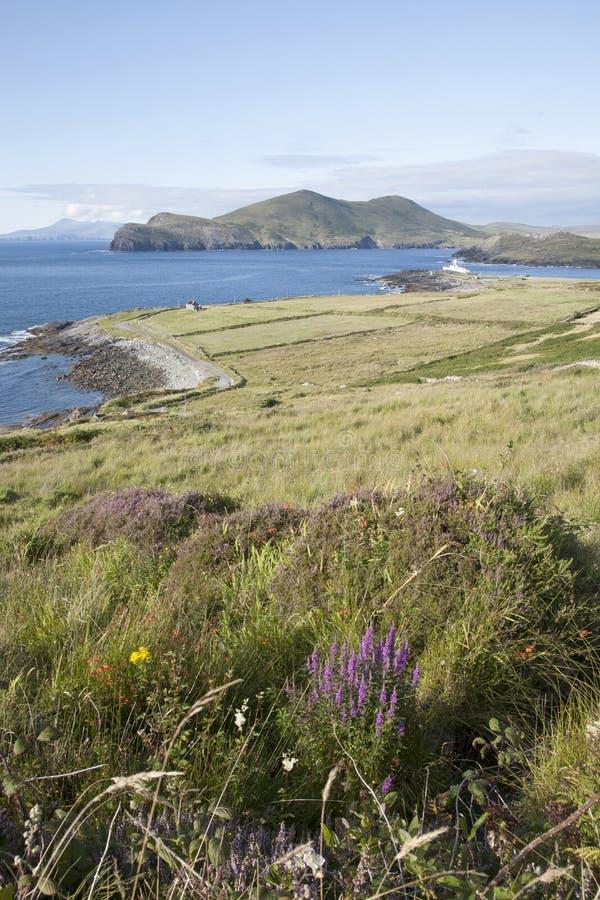 Faro en Valentia Island foto de archivo