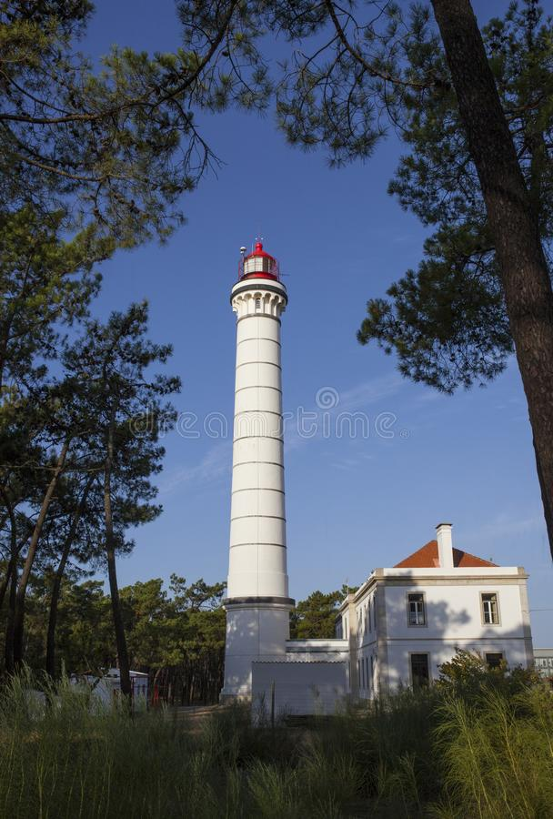 Faro en Vila Real de Santo Antonio, Portugal fotografía de archivo