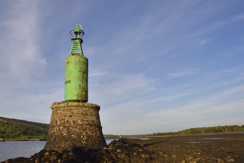 Faro escocés de la navegación de río fotos de archivo libres de regalías