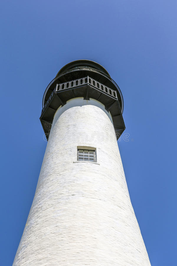 Faro famoso a capo Florida a Key Biscayne immagine stock libera da diritti