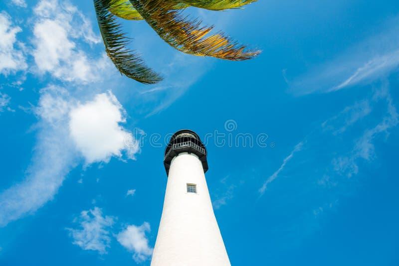 Faro famoso a Key Biscayne, Miami fotografia stock