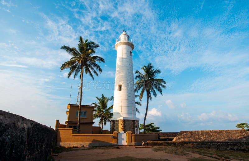 Faro forte olandese di Galle nello Sri Lanka fotografie stock libere da diritti