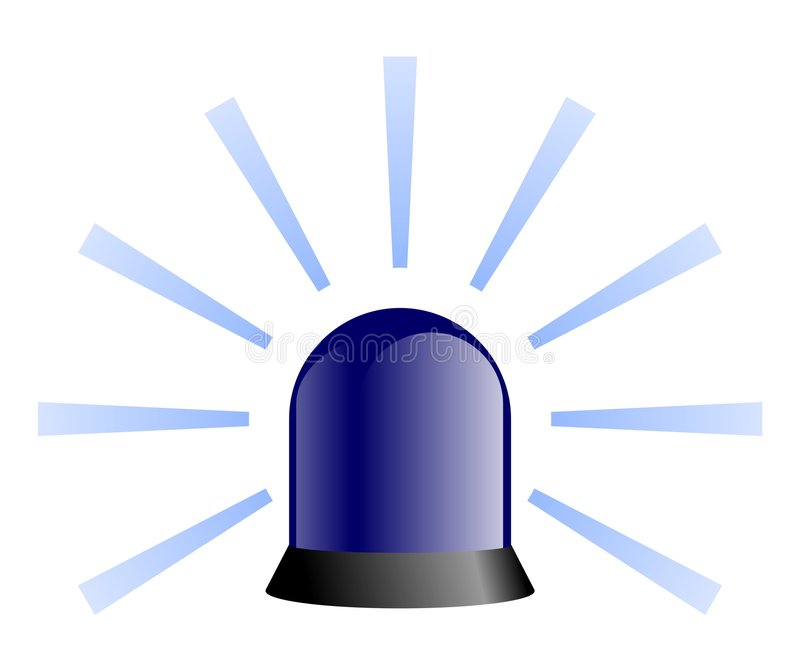 Faro giratorio - azul ilustración del vector