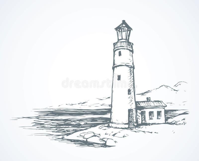Faro Illustrazione di vettore illustrazione di stock