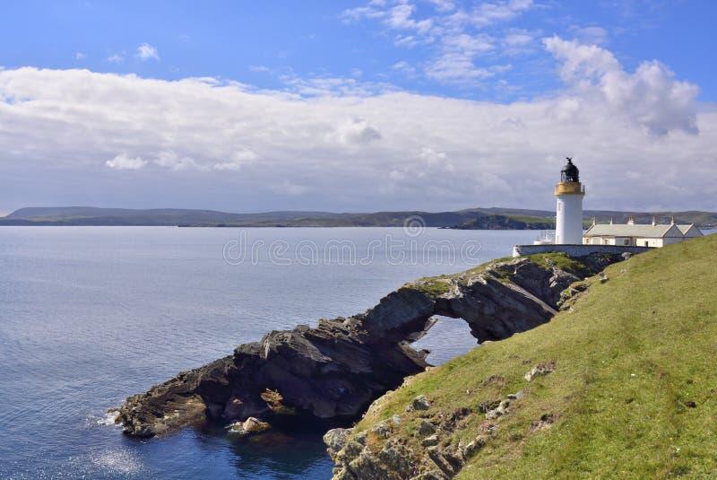 Faro, Islas Shetland imágenes de archivo libres de regalías