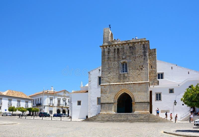 Faro katedra, Portugalia zdjęcia royalty free