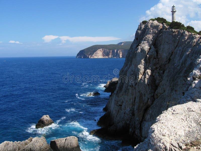 Faro a Lefkada 2 immagini stock