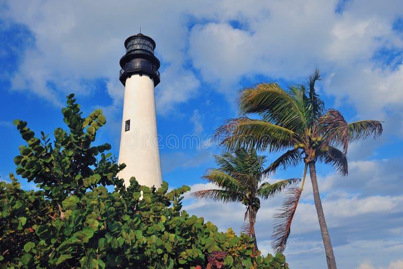 Faro ligero Miami de la Florida del cabo imagenes de archivo