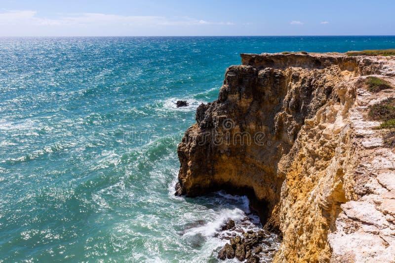 Faro Los Morrillos, Cabo Rojo, attrazione locale di Puerto Rico fotografie stock libere da diritti