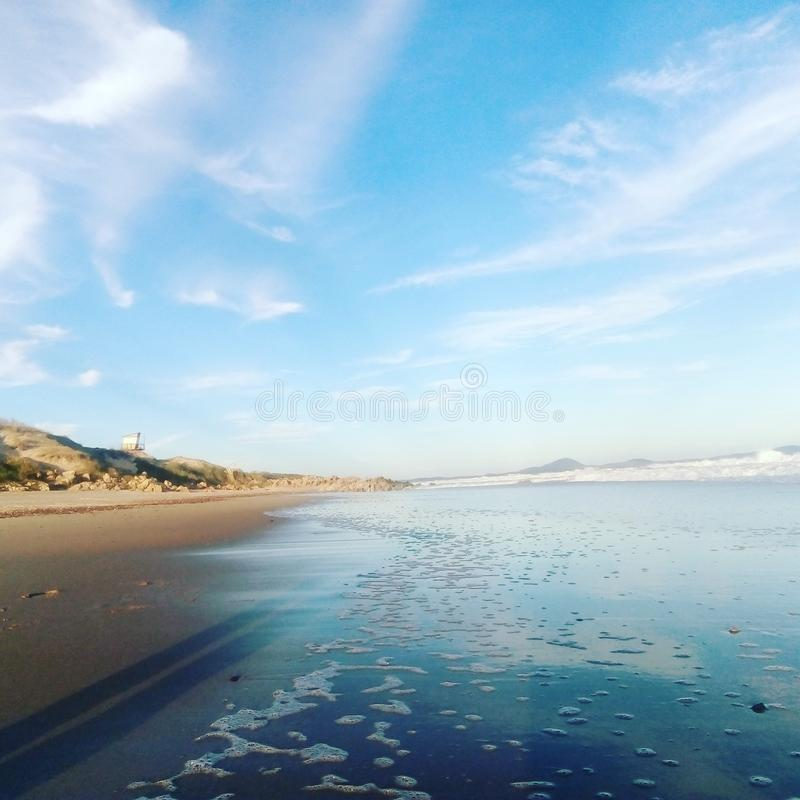 Faro mąci oceano Urugwaj obraz stock