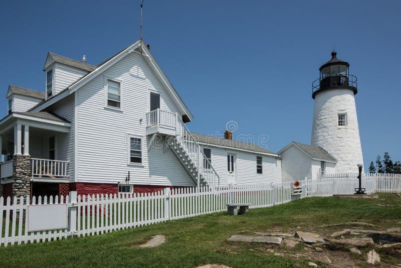 Faro Maine, U.S.A. del punto di Pemaquid fotografia stock libera da diritti
